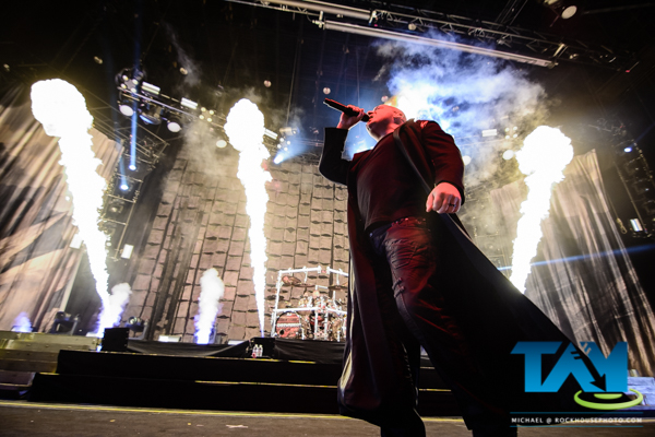 Disturbed, live at Aaron's Amphitheater at Lakewood, May 6, 2016