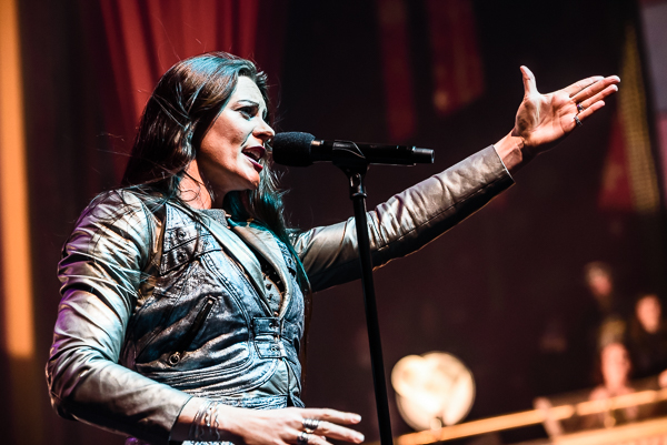 Floor Jansen of Nightwish, live at The Tabernacle in Atlanta, GA, March 9, 2018