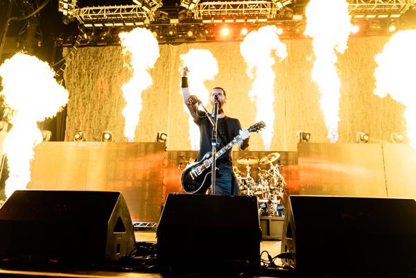 Godsmack, live at the Cellaris Amphitheatre at Lakewood, Atlanta, GA, August 16, 2018